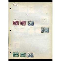 1935 Peru Hand Made Stamp Collection Album Page  16 Pieces (STM-0102)