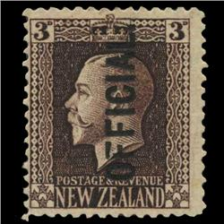1916 New Zealand 3p Official Stamp Mint PREMIUM (STM-0569)