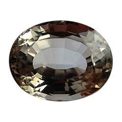 26.75ct Jumbo Rare Unheated Champagne Imperial Topaz Appraisal Estimate $66875 (GEM-24615)
