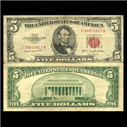 1953B $5 US Note Circulated (CUR-06051)