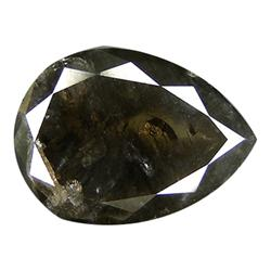 1.32 ct Top light Black Natural Diamond Pear (GEM-20203)