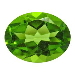 3.00 ct Natural Lustrous Oval Green Peridot (GMR-1060)