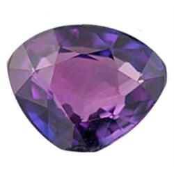 1.3ct Flawless Heart Top Violet Natural Ceylon Sapphire RARE FLAWLESS UNHEATED UNTREATED (GEM-18980)