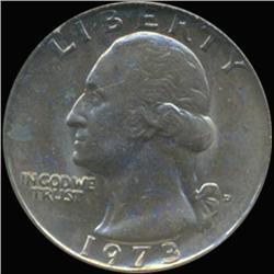 1973D Washington 25c Quarter Coin Graded GEM (COI-6871)