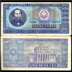 1966 Romania 100 Lei Note Hi Grade (COI-3888)