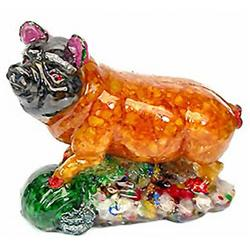 900ct. Pig Statue Statue Fancy Sapphire~Topaz (GEM-2872)