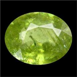 1.30ct Sparkling Natural Oval Pakistan Green Sphene (GEM-24829)