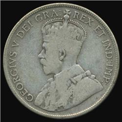 1929 Canada Half Dollar Better Grade (COI-7103)