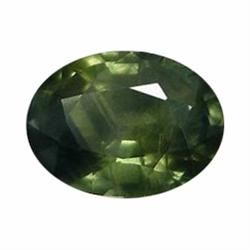 1.54ct Marvelous Intense Green Sapphire Oval Facet Africa (GEM-19554)