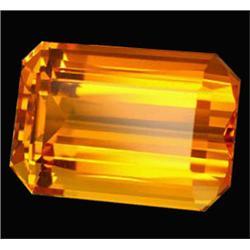 60.50ct Luminous Golden Yellow Emerald Cut Citrine (GEM-22747)