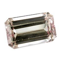 10.52ct Flawless Octagon Natural Pink Kunzite Appraisal Estimate $5260 (GEM-17847B)