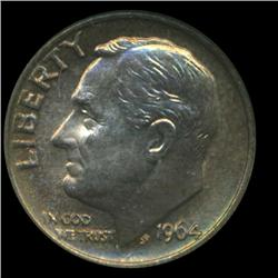 1964 Roosevelt Dime Graded MS68 Great Toning (COI-6398)