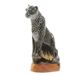 Water Buffalo Horn Scrimshaw Cheetah (CLB-215)