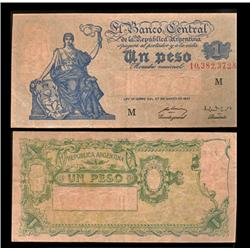 1935 Argentina 1 Peso Note Circulated (CUR-05547)