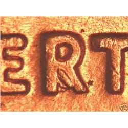 1960D Lincoln Cent Die Error Skirted R BU Rare (COI-3646)