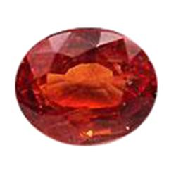 3.7mm Dazzling Oval Orange Sapphire Natural Songea (GMR-0942)