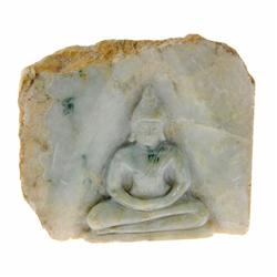 Hand Carved Light Green Jade Thai Buddha (CLB-025)