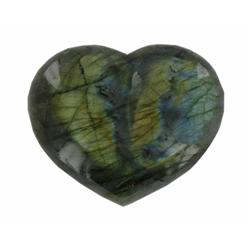 645ct Gem Grade Labradorite Polished Heart Neon Peacock Colors (GEM-21166)