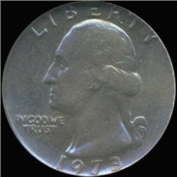 1973 Washington 25c Quarter Coin Graded GEM (COI-6870)