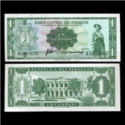 1952 Paraguay 1 Peso Note Crisp Uncirculated Type 1 (CUR-05602)