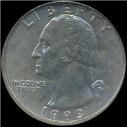 1993 Washington 25c Quarter Coin Graded GEM (COI-6904)