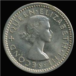 1955 New Zealand Three Pence Super GEM MS67+ (COI-6800)