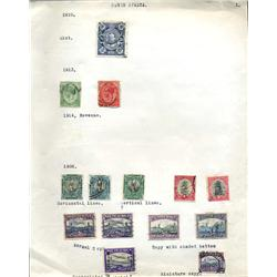 1910s/20s S. Africa Hand Made Stamp Collection Album Page 12 Pieces (STM-0231)