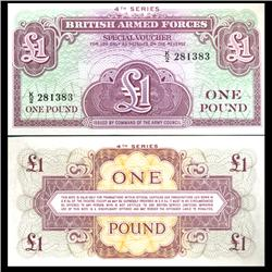 1962 1 Pound Military Note Crisp Uncirculated (CUR-06069)