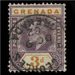 1902 Grenada 3p Postage Stamp Mint PREMIUM (STM-0586)