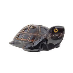 RARE Water Buffalo Horn Scrimshaw Turtle  (CLB-364)