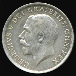 1918 Britain George V Shilling AU+ (COI-7089)