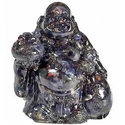 240ct. Blue Sapphire Chinese Happy Buddha Statue (GEM-2680A)