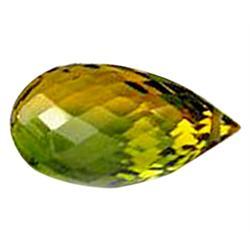 12.35ct Love Briolette Green Yellow Ametrine  (GEM-22978A)