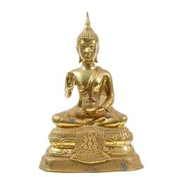 Antique Bronze Buddha With Offering Bowl (ANT-358)