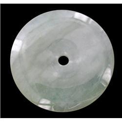 39.81ct Burma Imperial Jadeite Lucky Disc   (JEW-2060)