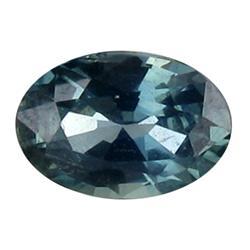 0.30ct ublime Bluish Green Sapphire Oval Facet (GEM-25828B)