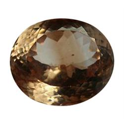29.55ct Jumbo Rare Unheated Champagne Imperial Topaz Appraisal Estimate $73875 (GEM-24586)