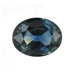 0.44Ct Natural Greenish Blue Sapphire Oval (GEM-25823B)