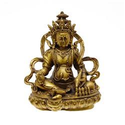 Gilded Tibet Seated Buddha (ANT-613)