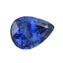 0.61 Ct Natural Royal Blue Ceylon Sapphire Pear (GEM-24436G)