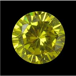 3.87ct Round Yellow Lab Diamond 8mm (GEM-22003B)
