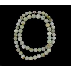 500ct/22in Burma Jade Round Beads Necklace 10mm (JEW-2067)