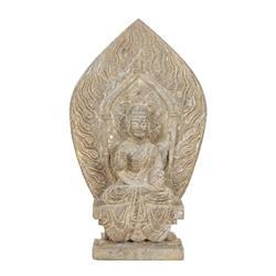 Large Stone Chinese Buddha Lotus Background (ANT-148)