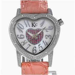 New Techno Com Diamond Bezel Ladies Watch Retail $2,495 (WAT-134)