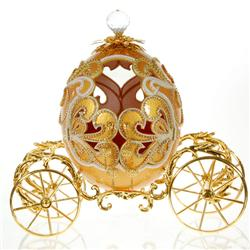 Ostrich Egg Gilded Coronation Carriage (ACT-026)
