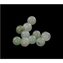 18.73ct 10pcs Natural Burma Jadeite Beads 5mm (GEM-26489)
