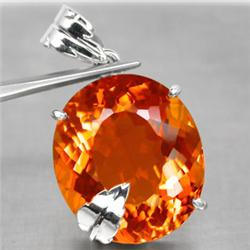 94.77ct Beauty Solid Silver Pendant Oval Golden Yellow Citrine (JEW-1564)