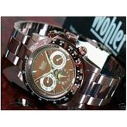 New Wohler Mens CHRONO Style Black Stainless Watch Retail $2495 (WAT-116)
