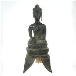 Antique Lao Buddha Bronze Tripod Base 1600s  (ANT-331)
