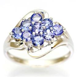 1.80Ct Natural Tanzanite White 9K Gold Ring (JEW-9147X)